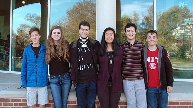 Six of the eight students who scored a 36 on their ACT from Ladue Horton Watkins High School (Credit: Ladue School District)
