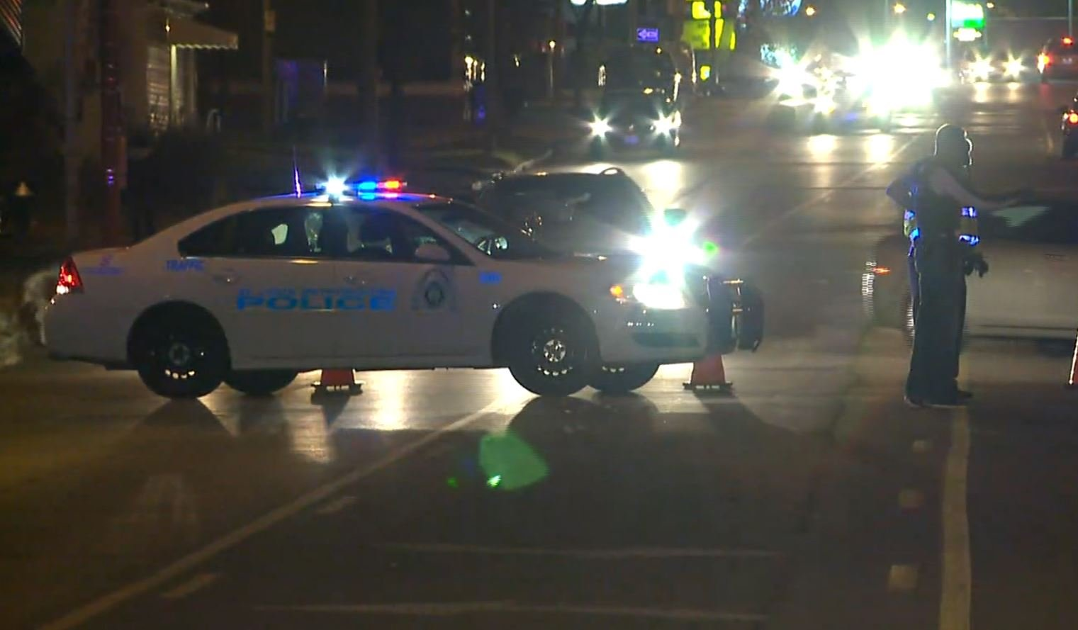 Police had Hampton closed at Pernod for hours Sunday evening (Credit: KMOV)