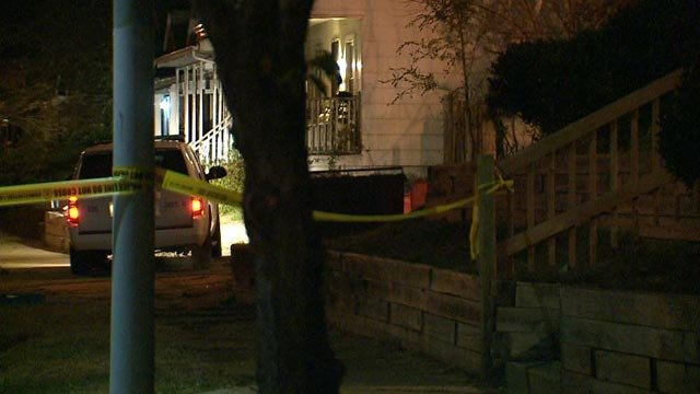 Police on scene after a man was shot and killed on North Euclid Sunday (Credit: KMOV)