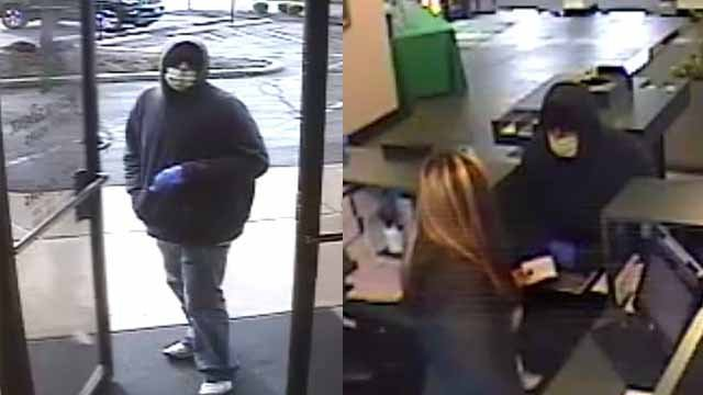 Police are looking for the man who robbed a Reliance Bank branch in Fenton. Credit: St. Louis County PD