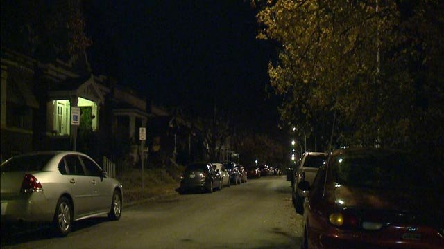 The 600 block of Fassen, where a man was shot and killed Monday (Credit: KMOV)