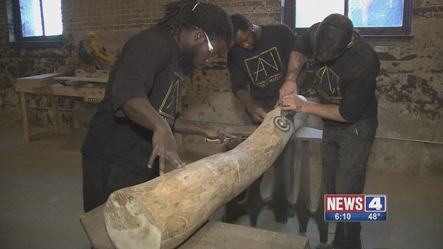Anew Nature is teaching felons wood working and furniture skills. (Credit: KMOV).