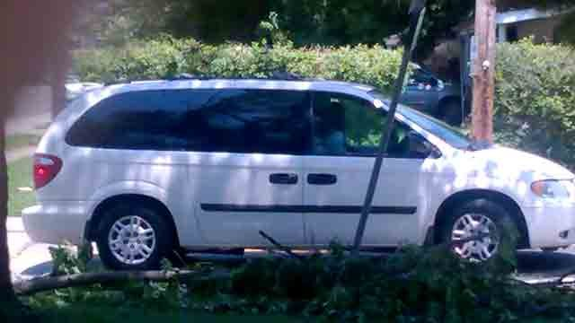 Police located van stolen from pastor's home. (Credit: church photo)