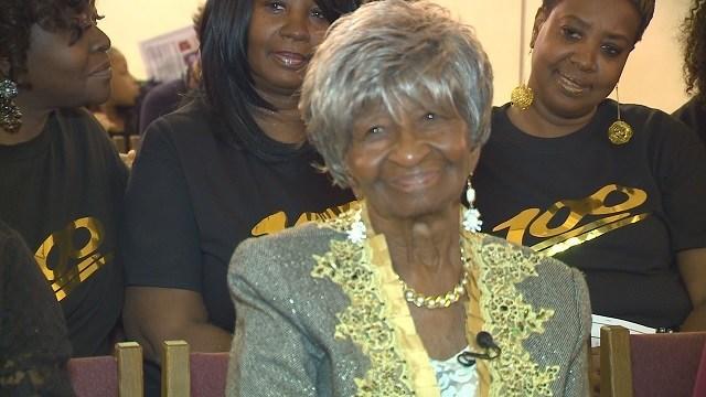 Wauleane Jatlin recently celebrated her 100th birthday. (Credit: KMOV)