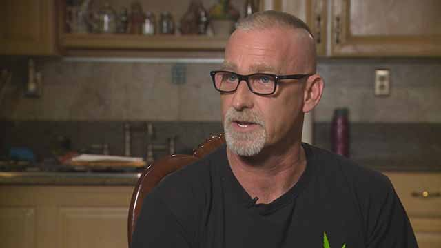 Darren Steven Miller said the Bank of Edwardsville refused service to him because he is legally allowed to use medical marijuana. Credit: KMOV