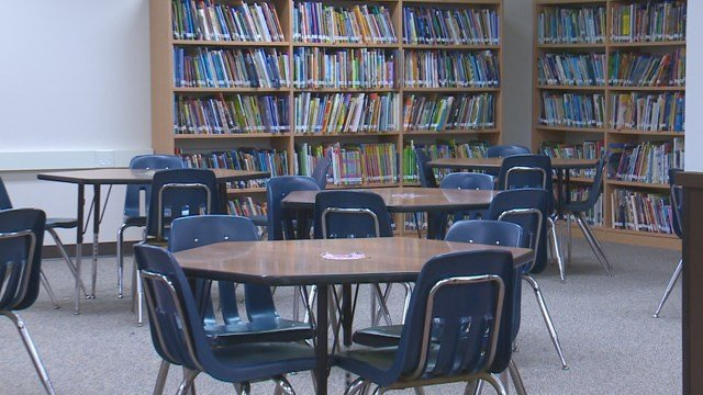 Bayless School District has built a new library funded by a no-tax increase bond issue. (Credit: KMOV).