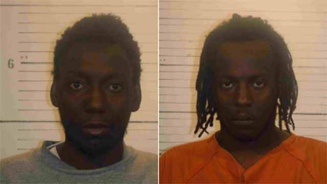 Deangelo Franklin and Shaquille Turner allegedly robbed a victim and shot him in the face at the Swansea MetroLink station. Credit: St. Clair County Sheriff