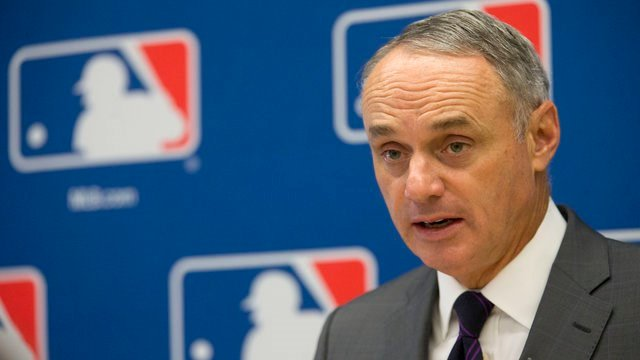 Rob Manfred (AP Photo/Mary Altaffer, File)