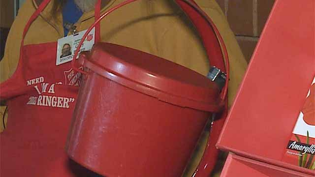 A Salvation Army red kettle. Credit: KMOV