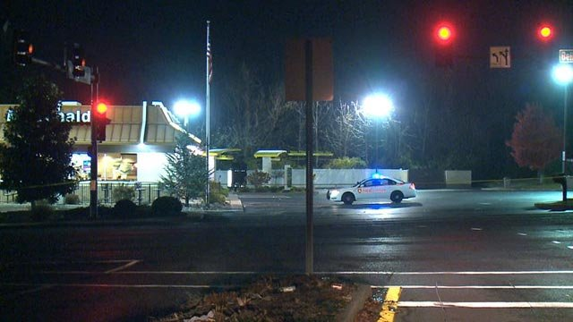 Police on the scene of a McDonald's on Bellefontaine Road Rd. (Credit: KMOV)