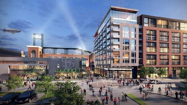 Rendering of Ballpark Village Phase 2 (Credit: St. Louis Cardinals)