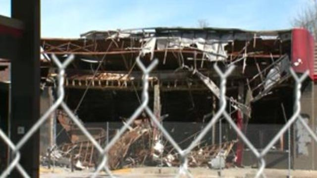 Site of former Ferguson QuikTrip (Credit: KMOV)