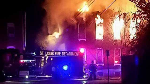 Bomb and Arson investigators are looking into the cause of a fire in the 3400 block of Illinois in South City.  Credit: SLFD