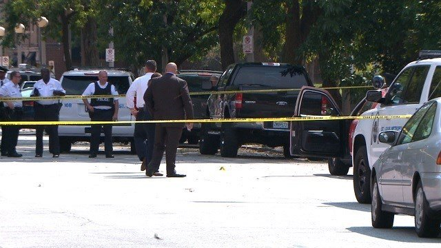 Police on scene of a fatal shooting in the Central West End (Larry Cummins KMOV)