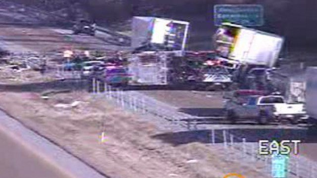 Traffic accident on I55 near Maryville, IL