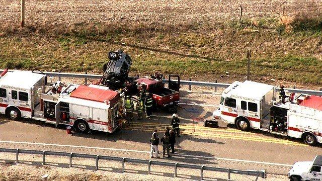 Emergency crews on scene of a deadly accident in southwest Belleville, Illinois Friday (KMOV)
