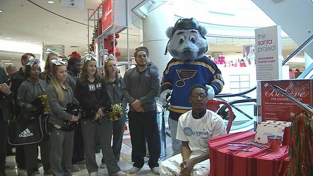 Ashford Hayes, 18, was given the royal treatment when Make-a-Wish Foundation took him to Macy's to go shopping. Credit: KMOV