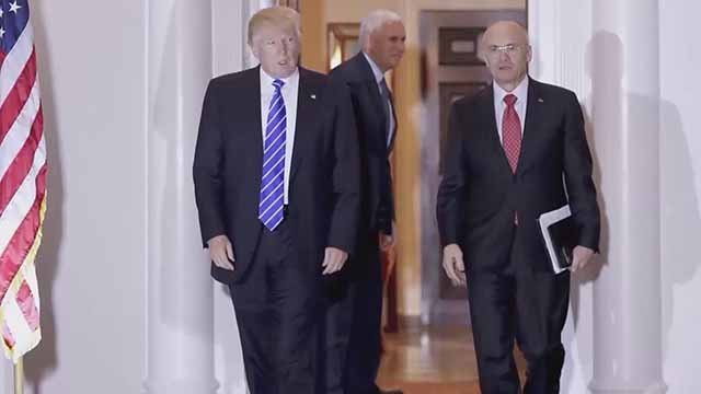 Andy Puzder with President-elect Donald Trump. Credit: KMOV