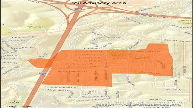 Precautionary boil advisory issued for portion of Maryland Heights. (Credit: Missouri American Water)