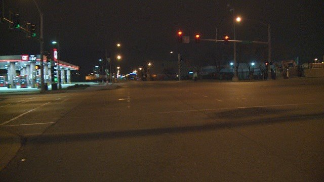 A driver fled the scene after hitting a pedestrian near S.Jefferson Ave and Chouteau. (Credit:KMOV)