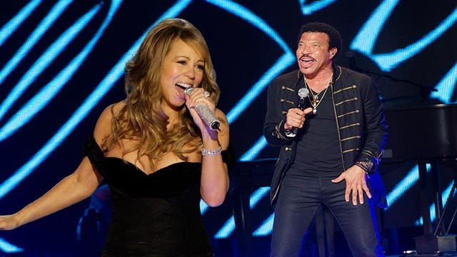 Mariah Carey & Lionel Richie (Credit: AP Images)