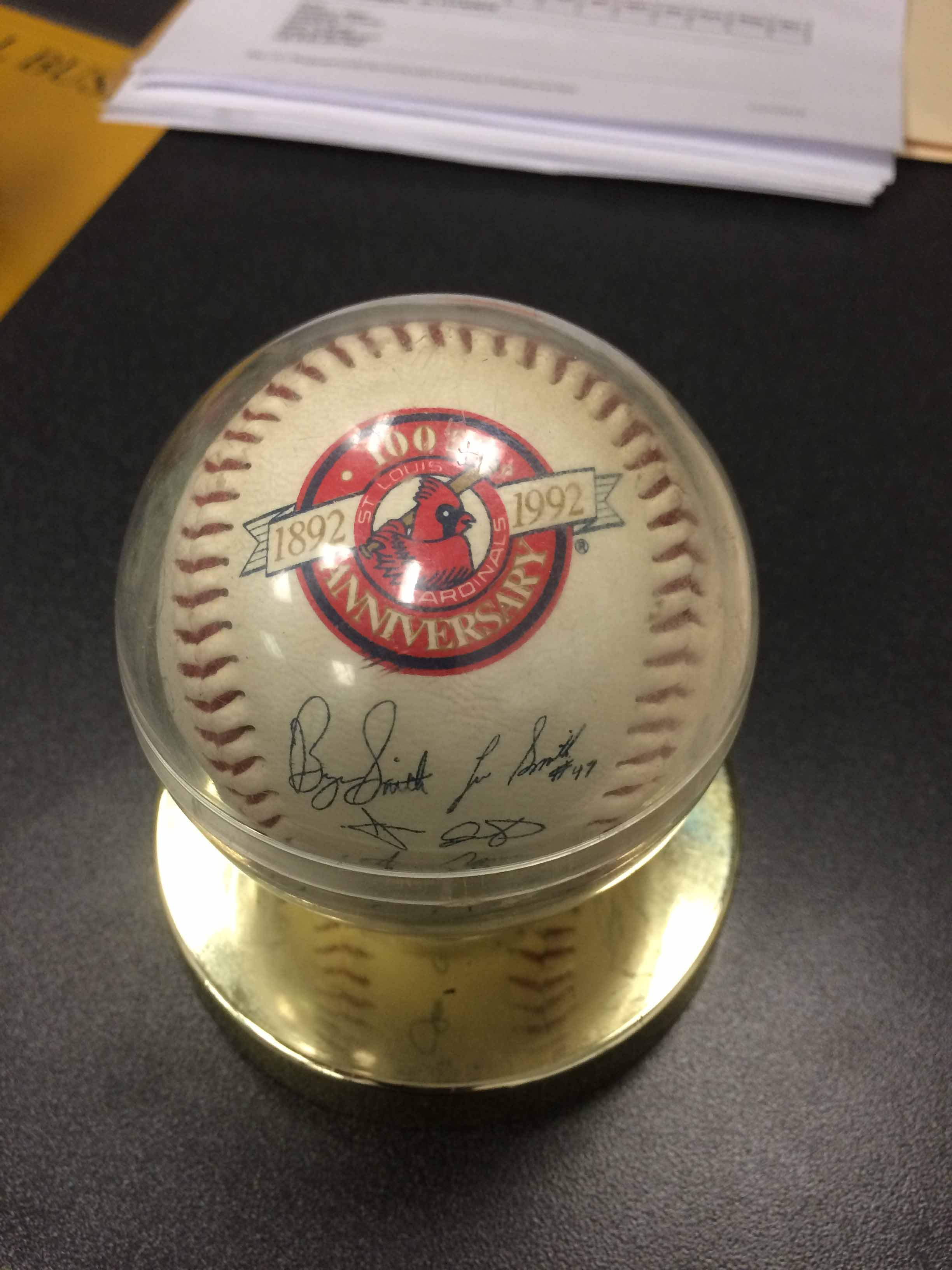An autographed baseball that may have been taken by Jeremy Mitchell. Credit: Madison County Sheriff