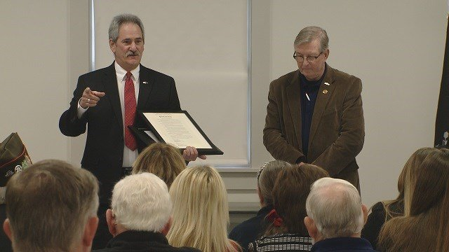 Veterans honored in Fenton for heroic efforts. (Credit: KMOV)