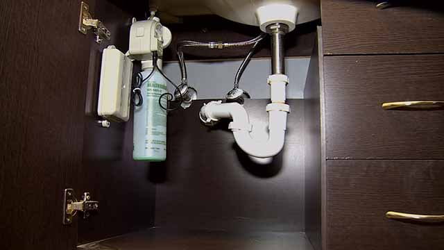 Pipes below a sink. Credit: KMOV