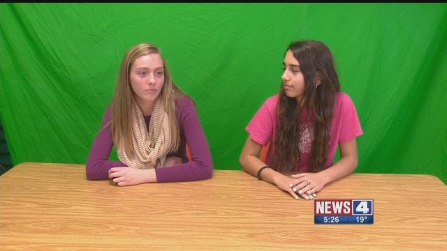 Students at Rogers Middle School in Affton putting on a broadcast. Credit: KMOV