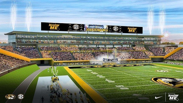 Mizzou continues South End Zone Facility Project. (Credit: University of Missouri)