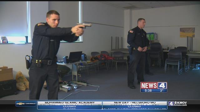 Police recruits undergo 'shoot, don't shoot training' (Credit: KMOV)