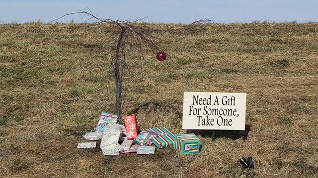 Presents under 'Charlie Brown Christmas' tree in Edwardsville (Credit: Lauren Szakielo)