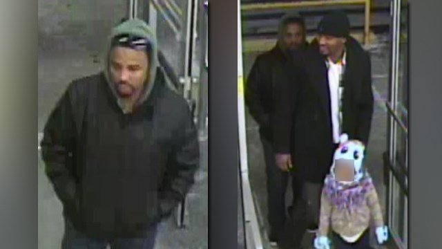 SLMPD are looking for these two men in connection to a shooting inside a North City Save-A-Lot. (Credit: KMOV).
