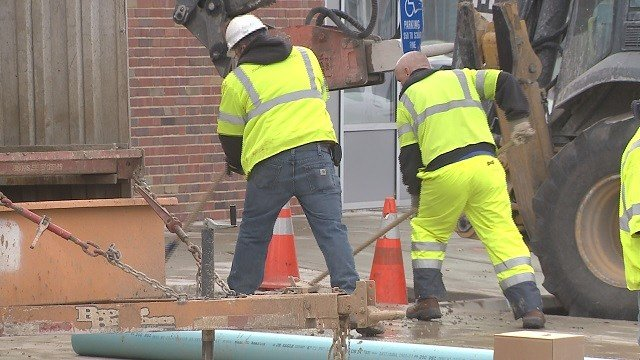 Widespread water main breaks in the St. Louis area are occurring due to recent frigid temperatures. (Credit: KMOV)
