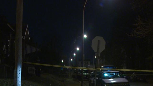 Crime scene tape following a double shooting in the  2000 block of Destrehan Thursday (Credit: KMOV)