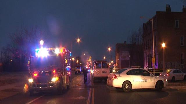 Emergency crews at Martin Luther King Dr. and Cardinal Ave (Credit: KMOV)