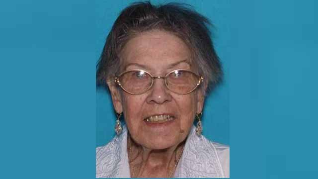 Elsie Grubbs,, 80, was last seen at her Maryland Heights home Sunday. She has early on-set dementia and high blood pressure. Authorities said she hasn't taken her medication for 2 days. Credit: Maryland Heights PD