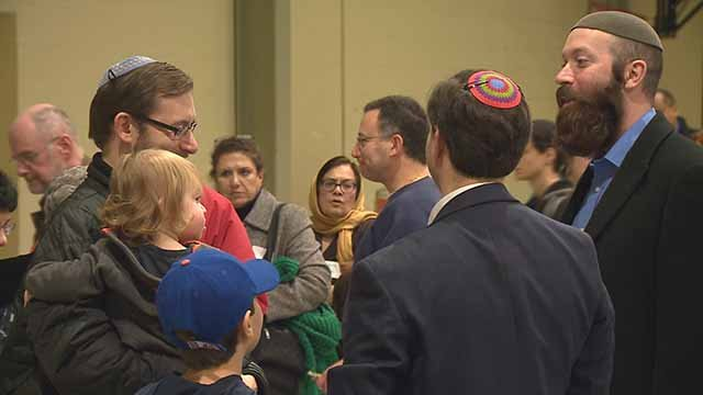 Jews and Muslims gathered in St. Louis Sunday for an interfaith day of community service. Credit: KMOV