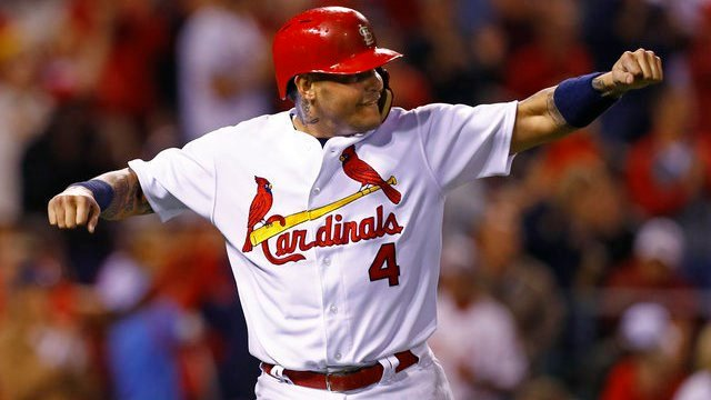 Yadier Molina wants a contract extension, and the Cardinals need to find a way to give him one. (AP Photo/Billy Hurst)