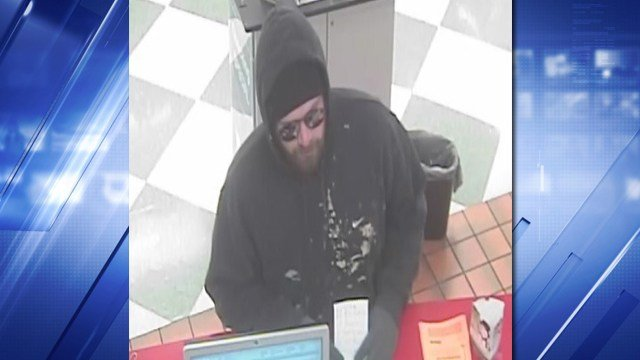Creve Couer Police say this man robbed a bank inside a Schnucks. (Credit: KMOV).