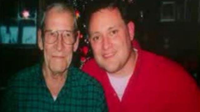 Steve Harris with his grandfather, Wayne Adey (Credit: Steve Harris)