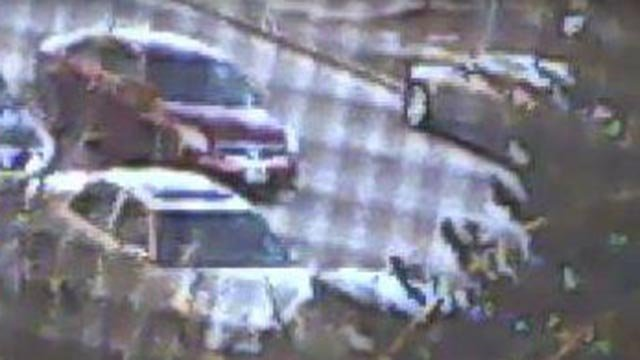 Police are searching for this maroon vehicle after a woman was killed Thursday (Credit: Police)