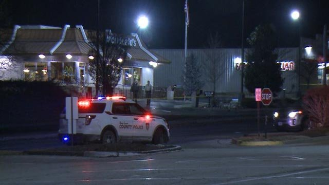 Police at Bellefontaine Road & Larimore Parkway after a shooting (Credit: KMOV)