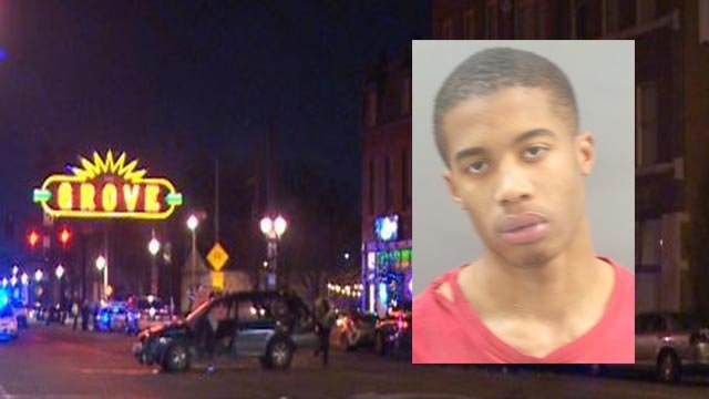 Renard Jones is accused of resisting arrest after crash in The Grove New Year's Eve (Credit: KMOV / Police)
