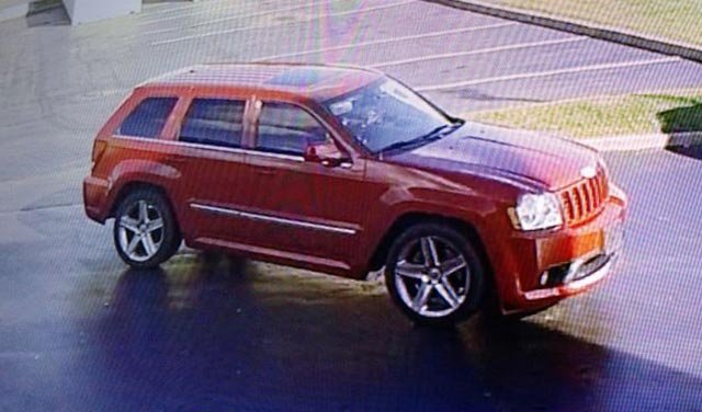 Police believe this red vehicle is connected to several car break-ins in the Metro East (Credit: Collinsville Police)