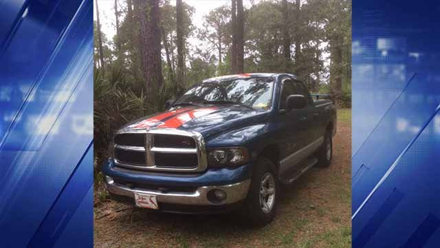 The truck stolen from South City has Florida plates and a unique pair of red stripes. (Credit: Family photo)