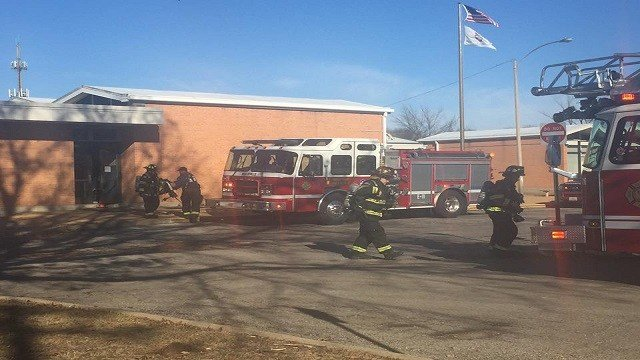 More than 300 students evacuated after smoke alarm with off at Douglas Elementary. (Credit: Belleville Fire Department)