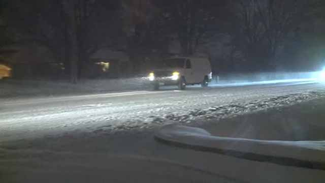 Driving in the snow. Credit: KMOV