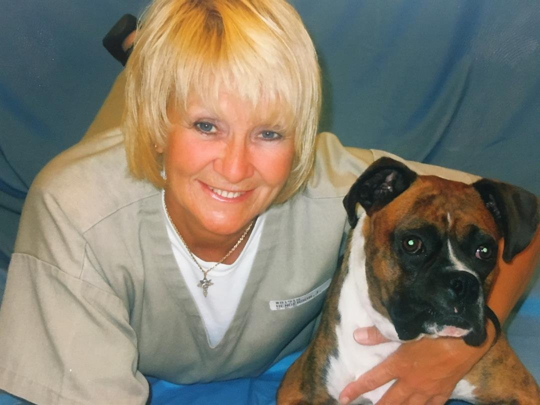 During her time in prison Judy Henderson has earned many certifications including a dog trainer. (Credit: Family photo)