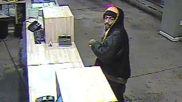 Police believe this suspect robbed an Imo's Pizza on Washington Avenue on Jan. 2 (Credit: St. Louis Police)